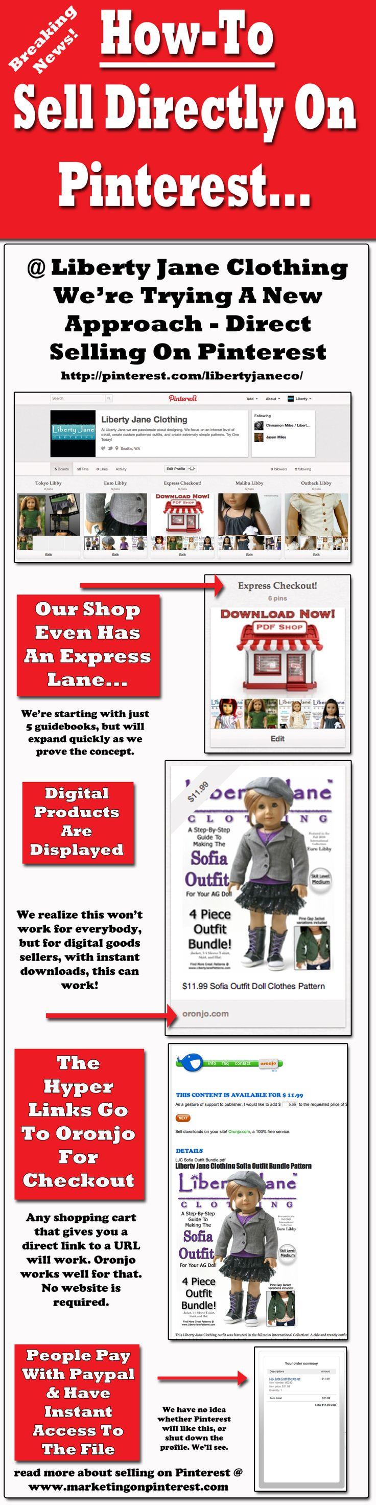 Selling Directly On Pinterest | Marketing On Pinterest
