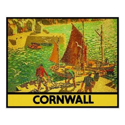 Cornwall Engeland ~ vintage poster