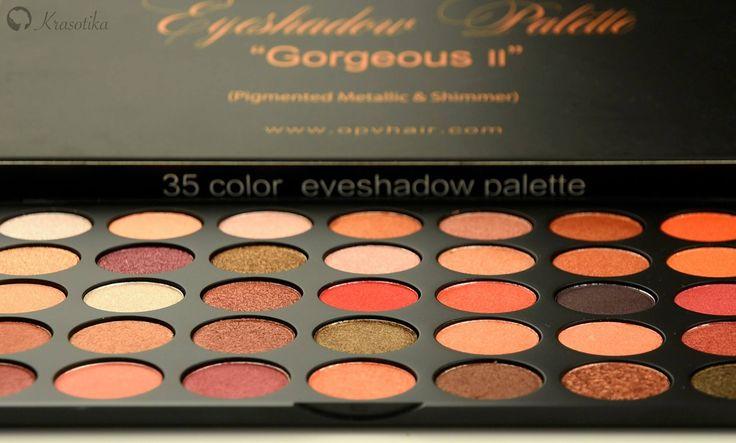 Nádherná paletka Gorgeous II od vašej obľúbenej značky OPV Beauty vám doslova vyrazí dych! <3 Obsahuje nádherné odtiene do oranžovej a hnedej farby. Navyše súčasťou paletky je aj presovaný gliter medenej farby <3