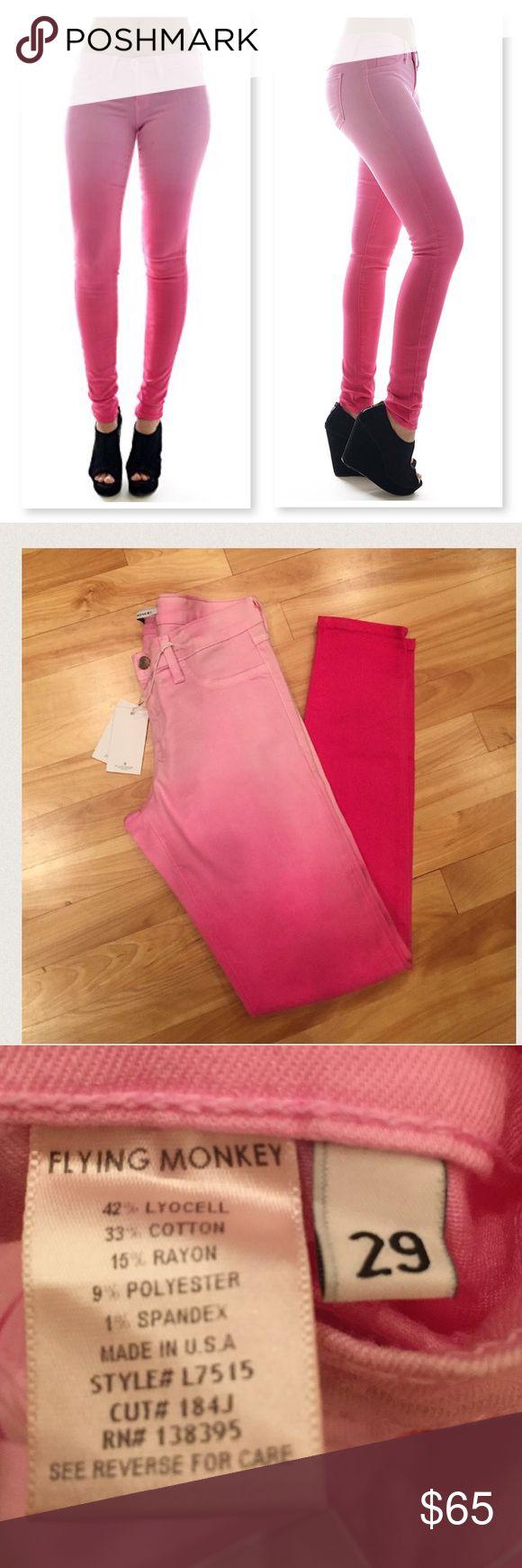 "Flying Monkey🎄Ombré Skinny Flying Monkey ombré pink skinny jeans. 31"" inseam. Flying Monkey Pants Skinny"