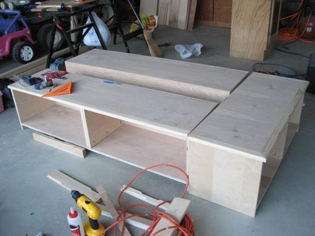 25 best ideas about woodworking bed on pinterest bed frame design farmhouse bed and bed - Plans for platform bed with storage drawers ...