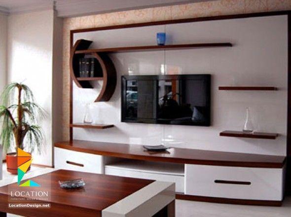 رفوف خشبية للتلفاز مكتبات شاشات Lcd مودرن Living Room Decor Apartment Tv Wall Decor Apartment Decor
