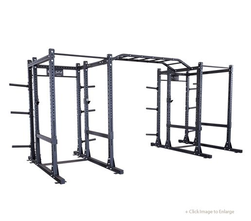SPR1000DBBACK - Commercial Extended Double Power Rack Package - Body-Solid Fitness    With a multitude of options and attachments along with the ability to expand and customize, the SPR1000DBBack Commercial Extended Power Rack Package is the perfect blend of quality, function, versatility and value.