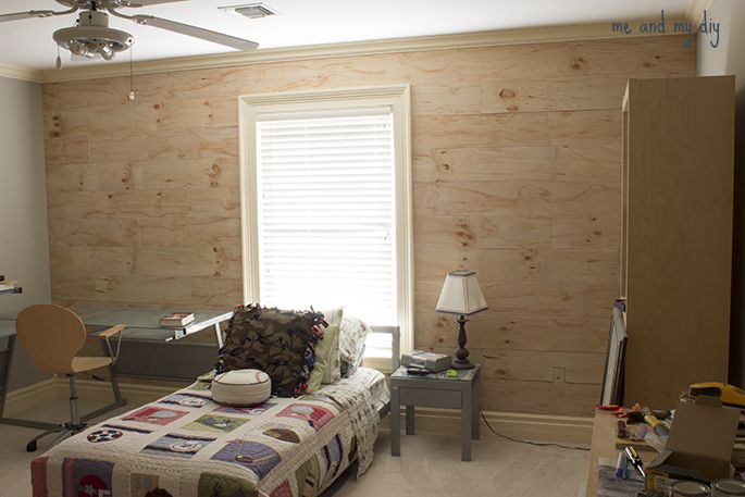 More Bedroom Progress Accent Wall 4x8 Plywood Accent