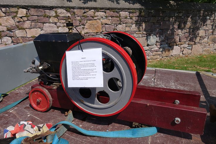 red Amanco stationary engine, date unknown