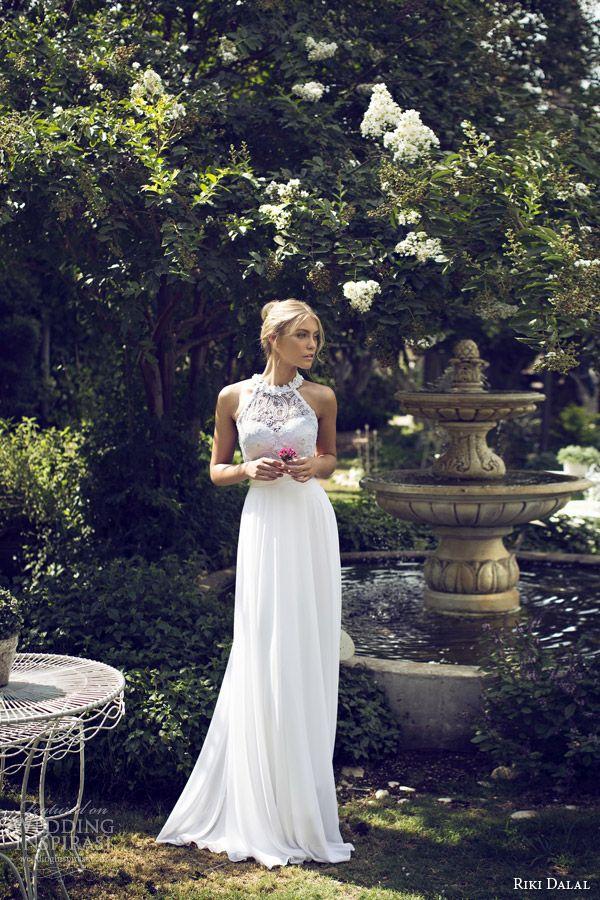 riki dalal bridal 2015 halter neck wedding dress 1508