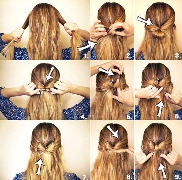 12 быстрых причесок на длинные волосы на каждый день за 5 минут