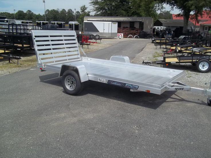 edge series aluma 78 x 12 aluminum utility trailer