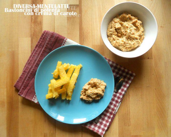Come #riciclare gli avanzi di #polenta del giorno prima: http://diversamentelatte.altervista.org/bastoncini-di-polenta-con-crema-di-carote