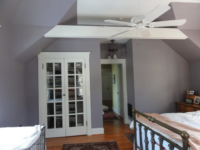 purple grey benjamin moore sleepy hollow good with white moldings with chartruse - Bedroom Colors 2012
