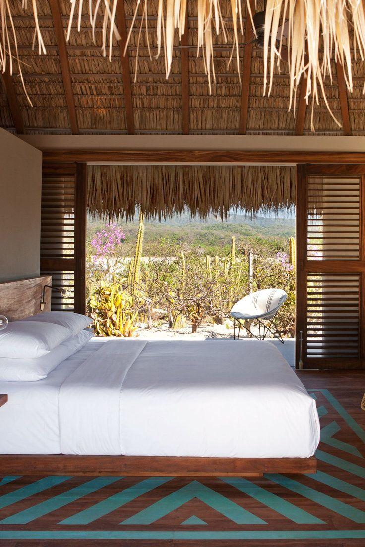 Hotel Escondido - Puerto Escondido, Mexico - Bedrooms have modern comforts like flat-screen TVs, iPod docks and outdoor gardens.