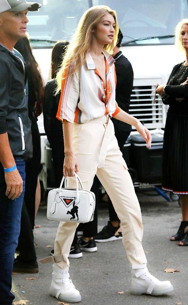 7cb933f58596aa Los mejores looks de Gigi Hadid en New York Fashion Week Spring 2019 ...