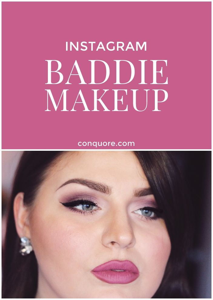 Instagram Baddie Makeup inspired by Chloe Boucher in rose and pink