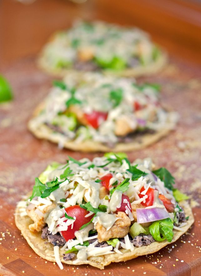 mexican chicken tostadas recipe