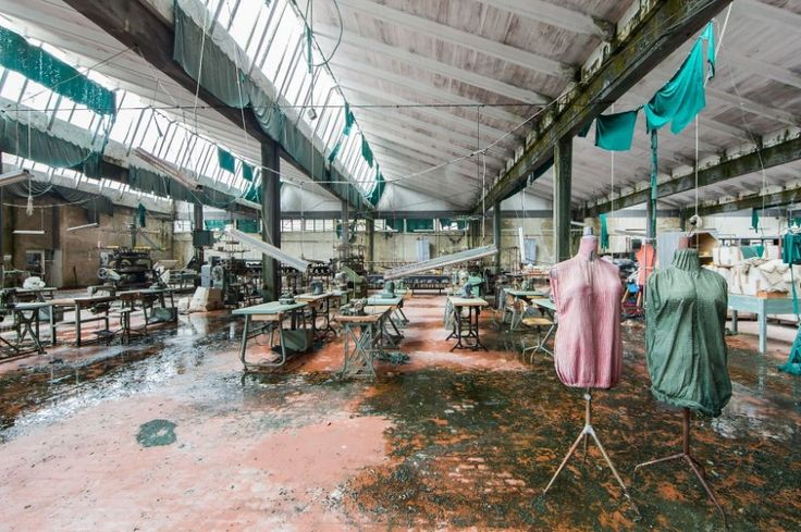 An abandoned textile factory in Italy