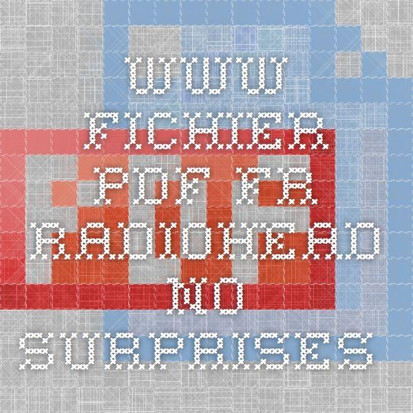 www.fichier-pdf.fr Radiohead No surprises.