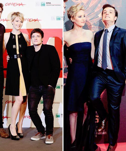 Josh Hutcherson making fun of his own height. Gotta love him!