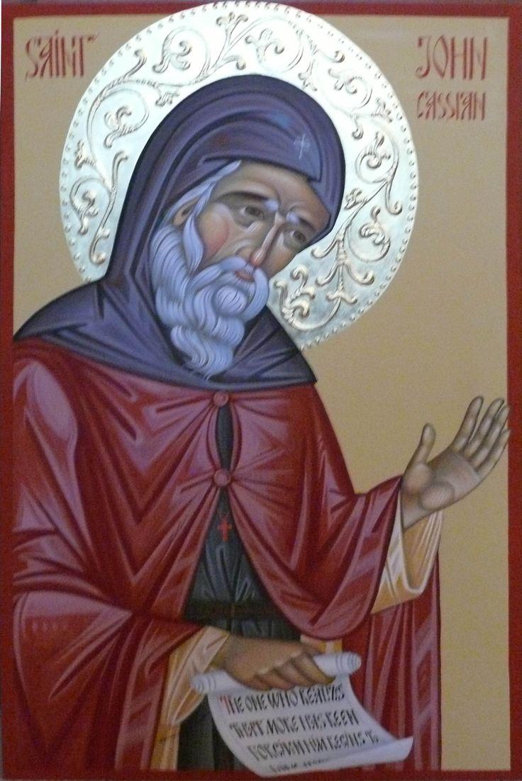 St. John Cassian icon hand painted, orthodox icon, Byzantine icon created by Bulgarian artist Georgi Chimev.