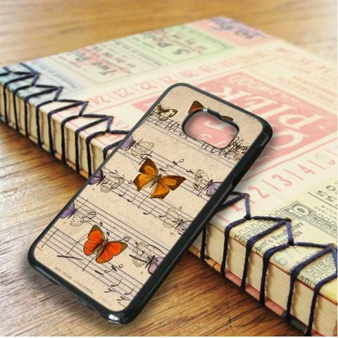 Butterfly Music Note Samsung Galaxy S6 Edge Case