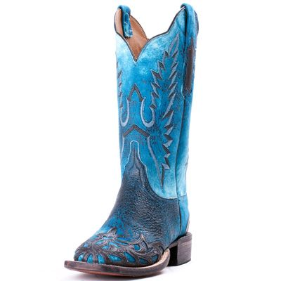 Lucchese Cowgirl Blue Hand Tooled Filigree Wingtip Cowboy Boots|Lucchese Boots. These Are EXACTLY what I have been dreaming of!