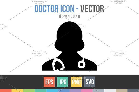 Female Doctor Icon Vector by TukTuk Design on @creativemarket
