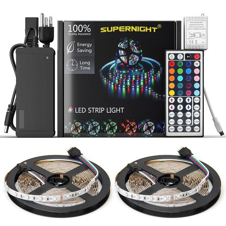 armacost lighting rgb led custom color lighting controller. new 2018 led strip lights kit waterproof\u2013 32.8ft (10m) 600 leds smd armacost lighting rgb led custom color controller