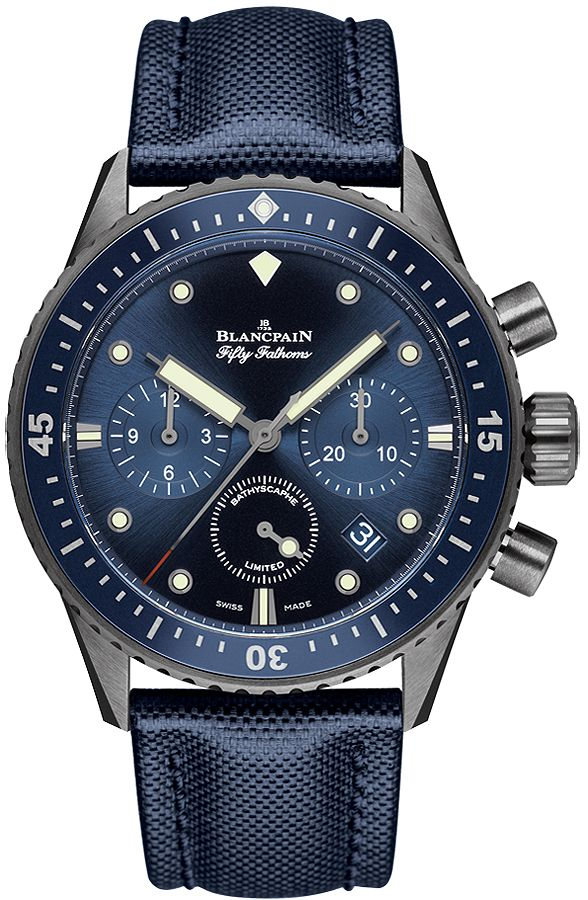5200-0240-52a Blancpain Fifty Fathoms Bathyscaphe Flyback Chronograph 43mm Mens Watch