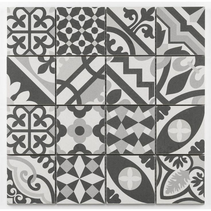 Mosa que style imitation de ciment grise taille 8x8 cm sur - Castorama carreaux de ciment ...