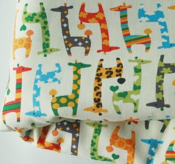 Cute Giraffe Fabric Green 1 Yard by FabricBubble on Etsy, $10.98