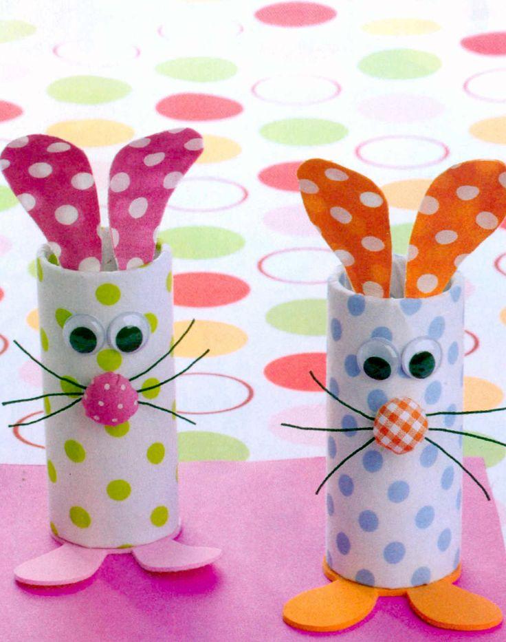 Lavoretti di Pasqua fai da te con rotoli di carta igienica - Fotogallery Donnaclick