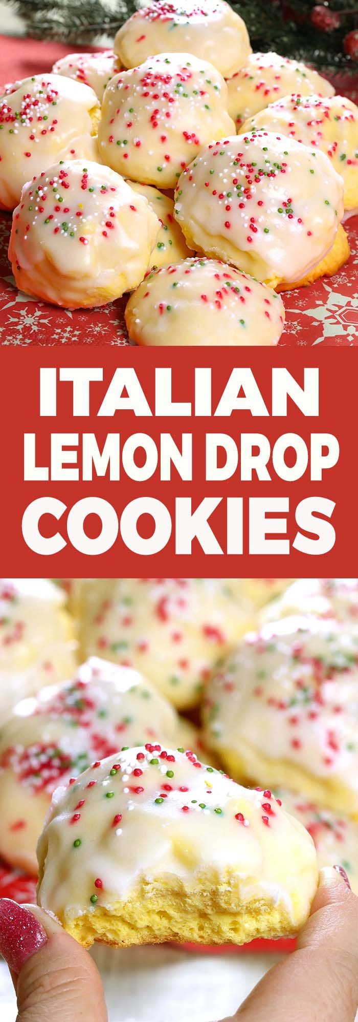 Lemon drop cookies, iced Italian cookies or anginetti, whatever your family calls them you'll be sure to find these traditional Italian cookies at many special occasions and holiday cookie trays.