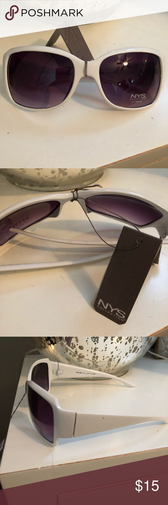 NYS Collection White Sunglasses. NWT NWT white NYS sunglasses. Style: New York. Come with a drawstring case. NYS Accessories Glasses