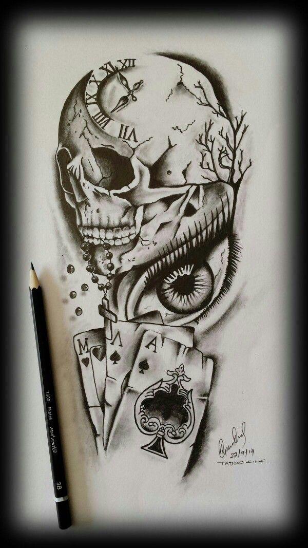Fotografias De Tatu Eskizy Vk In 2020 Skull Tattoo Design Tattoo Design Drawings Card Tattoo Designs