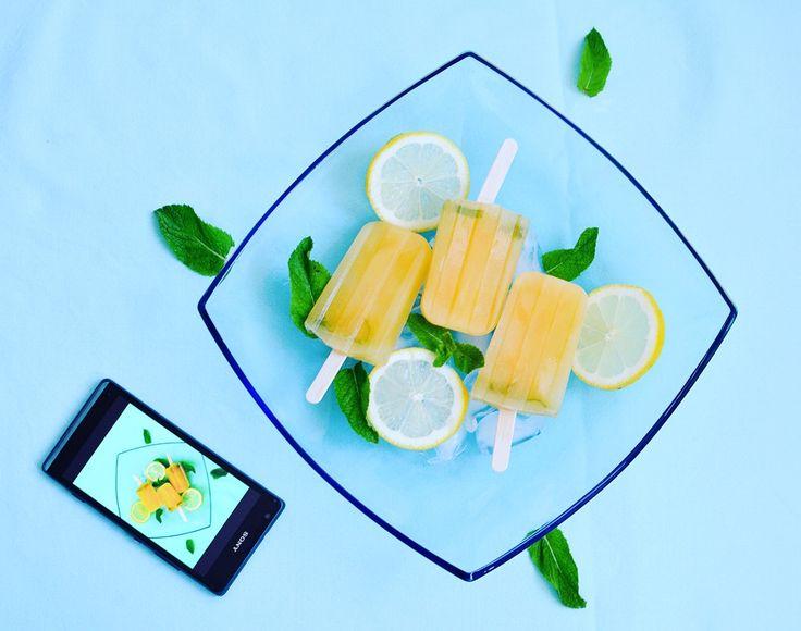 Sucettes glacées aux deux citrons