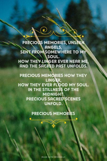 My precious memories