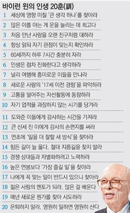 """""""큰 생각 하나 품고 살며, 은퇴하지 말라"""" : 뉴스 : 동아닷컴"""