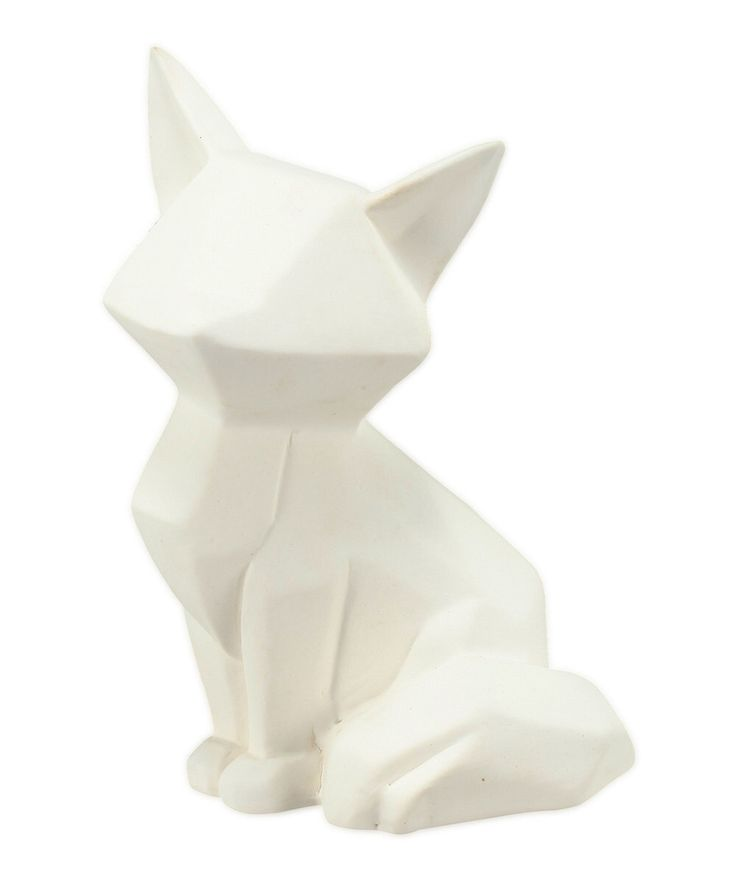 Look at this White Foxy Figurine on #zulily today!