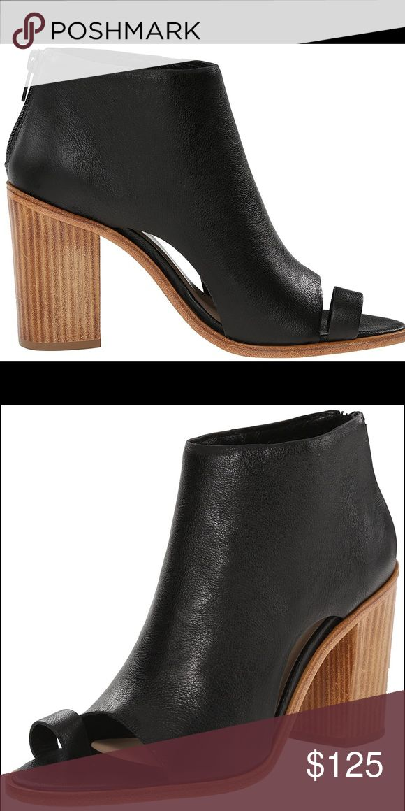"""NWT- Loeffler Randall Gigi Dress bootie. NWT - Loeffler Randall Gigi all leather dress bootie. .3"""" stacked leather heels open front with toe ring. Loeffler Randall Shoes Ankle Boots & Booties"""