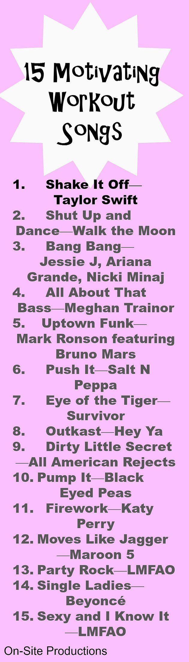 15 motivating workout songs the link to the playlist is included this