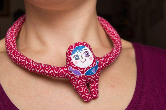 Hugging PUPO Necklace Into the Blue di Cevi su Etsy
