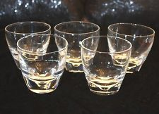 Steuben Tumbler Set of 5 Vintage Mid Century Dimples Signed Rocks Old Fashioned