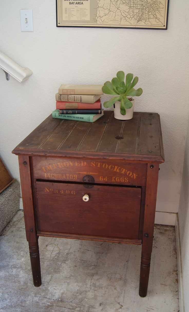 Painted Gold End Table