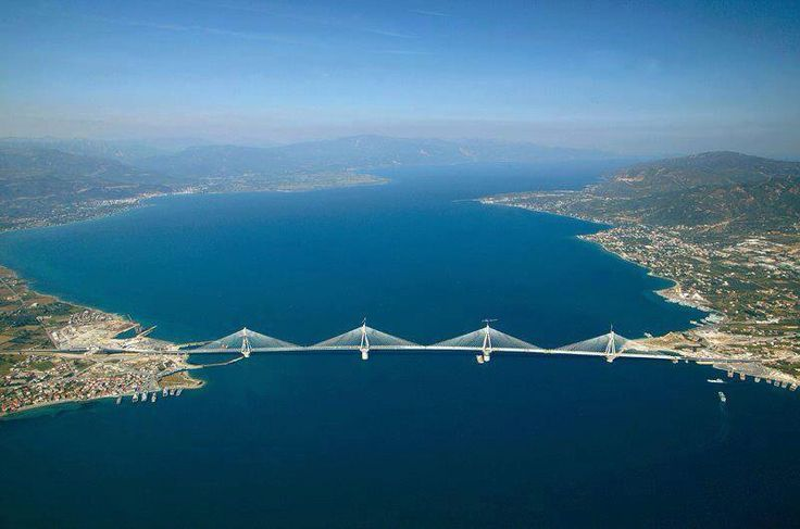 Rio Antirio bridge, Patras, Greece