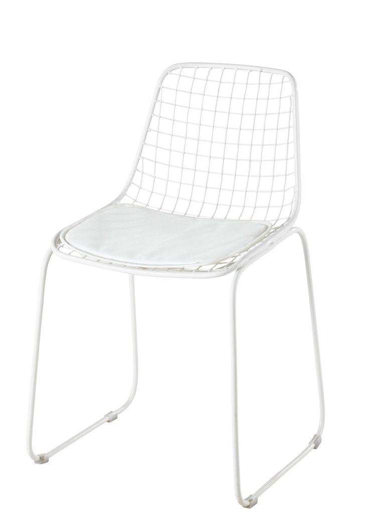Schön Metallstuhl, Weiß Picpus