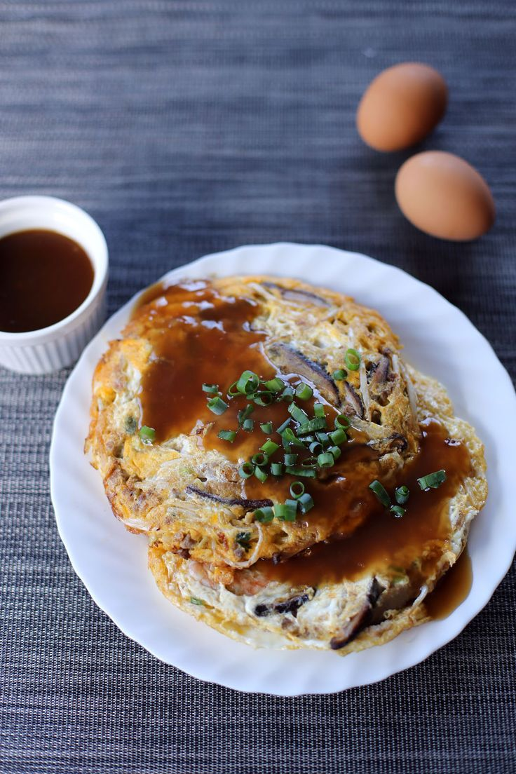 Egg Foo Young.  Healthy but way too high in sodium!  Very special treat only for me!