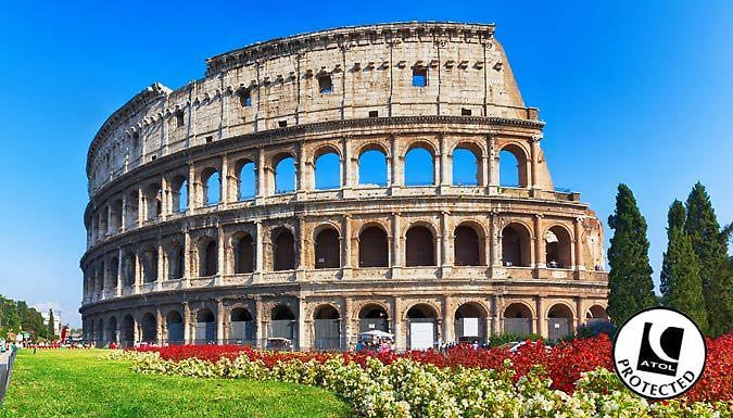 Rome, Italy: 2-3 Nights With Hotel and Flights - Up to 54% Off Ancient ruins rub shoulders with cosmopolitan culture in the capital city of Rome.      Explore it all with 2-3 nights at theHotel Saint Paulor theRomoli Hotel      Both hotels are close to the metro lines taking you to and from the city centre      Stop by the famous Colloseum or capture the religious wonders of the Vatican ...