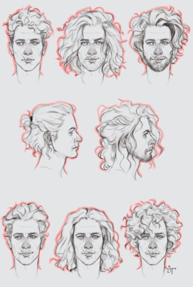 10 Amazing Drawing Hairstyles For Characters Ideas In 2020 Curly Hair Drawing Drawing Male Hair How To Draw Hair
