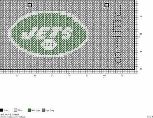 NEW YORK JETS LICENSE PLATE by TRICIA -- FOOTBALL WALL HANGING