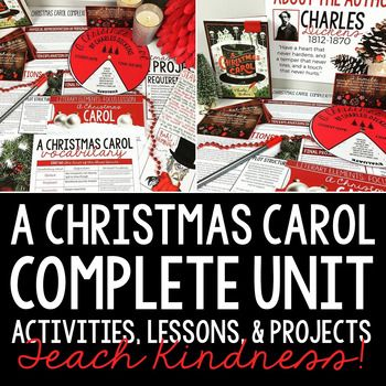 A Christmas Carol Novel Study for grades 7-12: 9 activities, lessons, and projectsTHIS PRODUCT INCLUDES THE FOLLOWING: A Christmas Carol Test for grades 7-12 This product includes A Christmas Carol test from middle and high school students based on Bloom's Taxonomy.