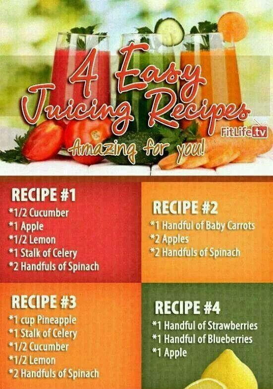 4 Juicing Recipes.